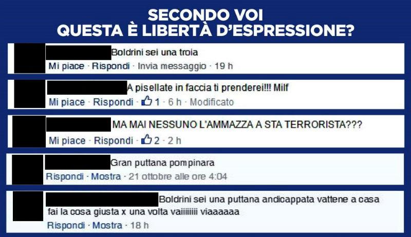 boldrini insulti facebook