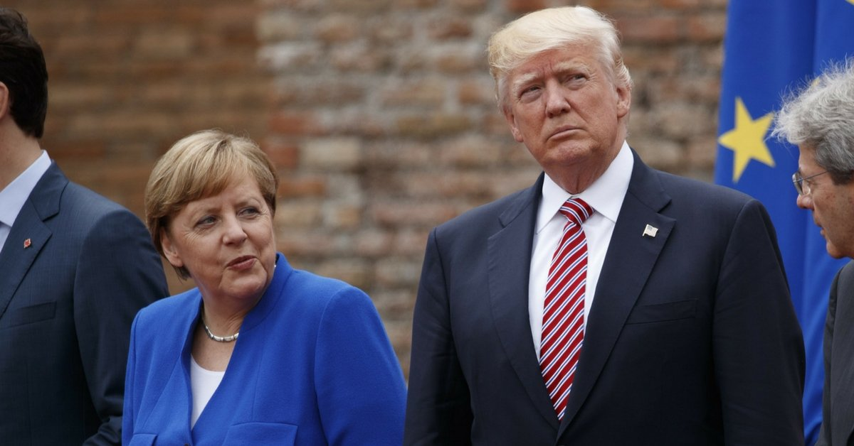 trump merkel g7 accordo di parigi