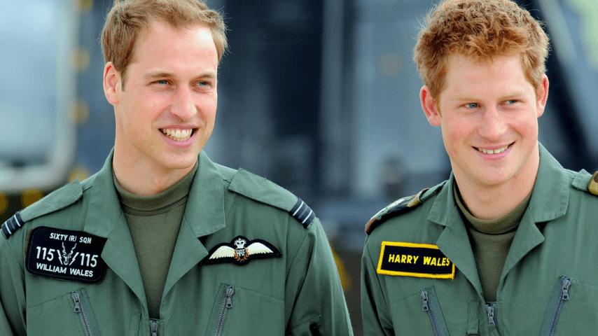 Harry e William sorridenti insieme