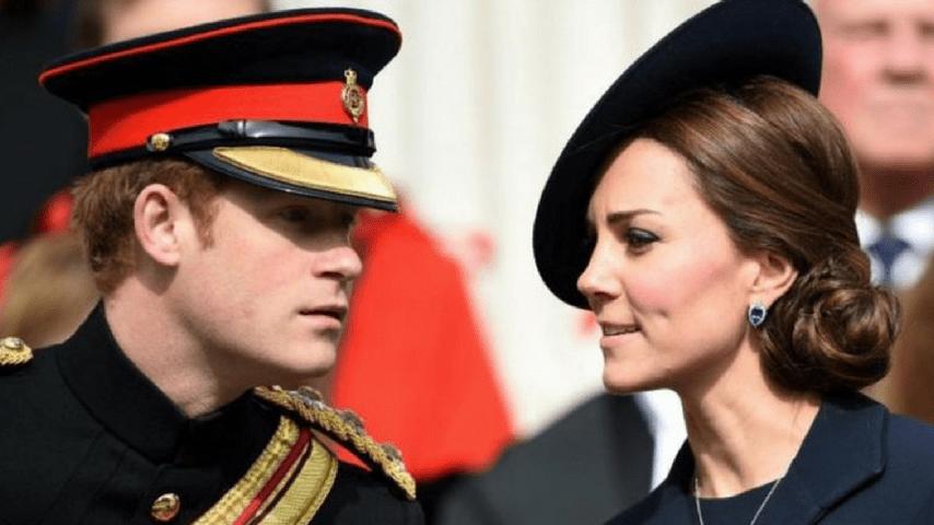 Il principe Harry con la cognata Kate Middleton