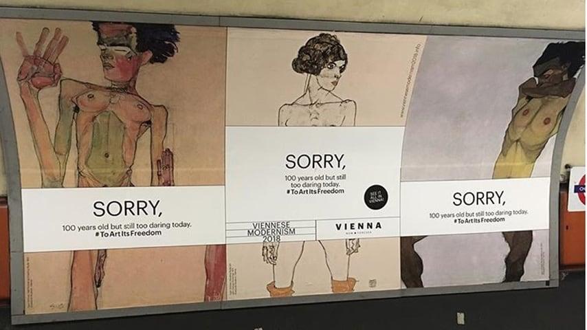 I nudi di Egon Schiele nella metropolitana di Londra
