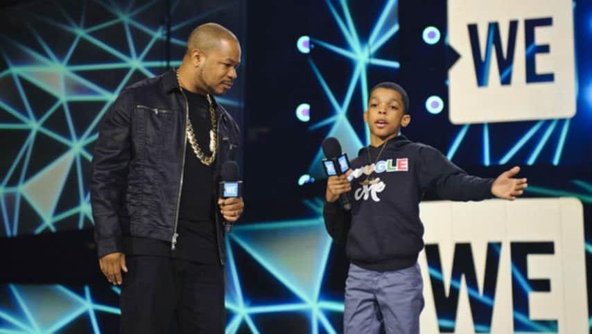 Il rapper Xzibit con Jahkil Jackson durante la premiazione We. Foto: Timothy Hiatt/Getty Images North America