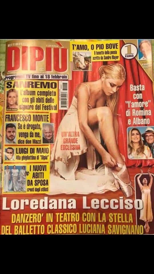 Loredana Lecciso sulle pagine di DiPiù
