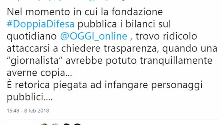 La risposta di un utente a Selvaggia Lucarelli