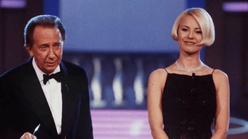 Antonella Elia e Mike Bongiorno