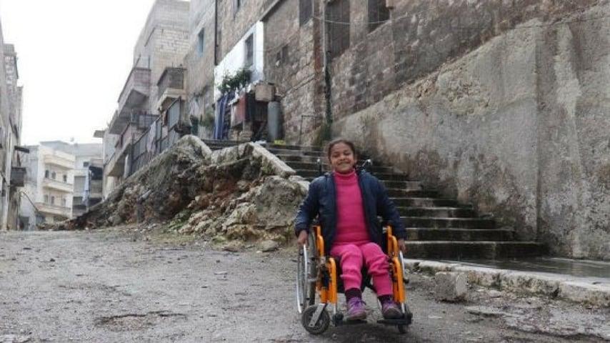 bambina disabile siria