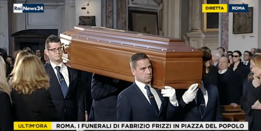 fabrizio frizzi funerali