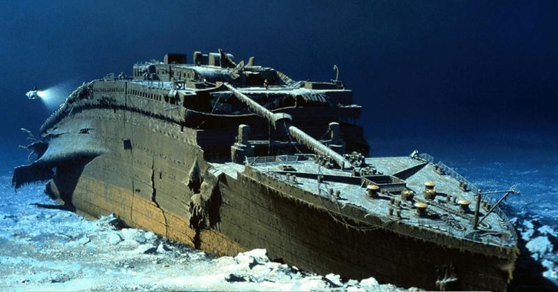 Il relitto del Titanic oggi - foto d'archivio