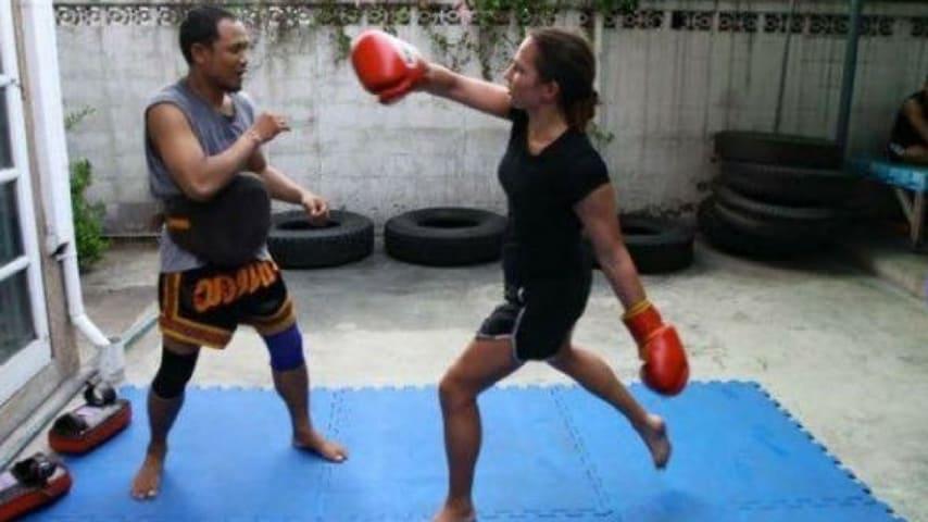 Kathy Gerathy kick boxer a Bangkok Credits_ Leicester Mercury