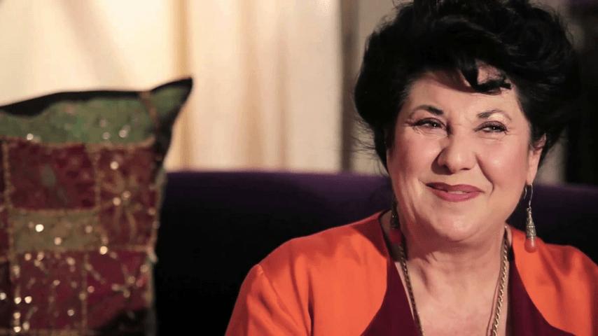 Marisa Laurito durante un'intervista