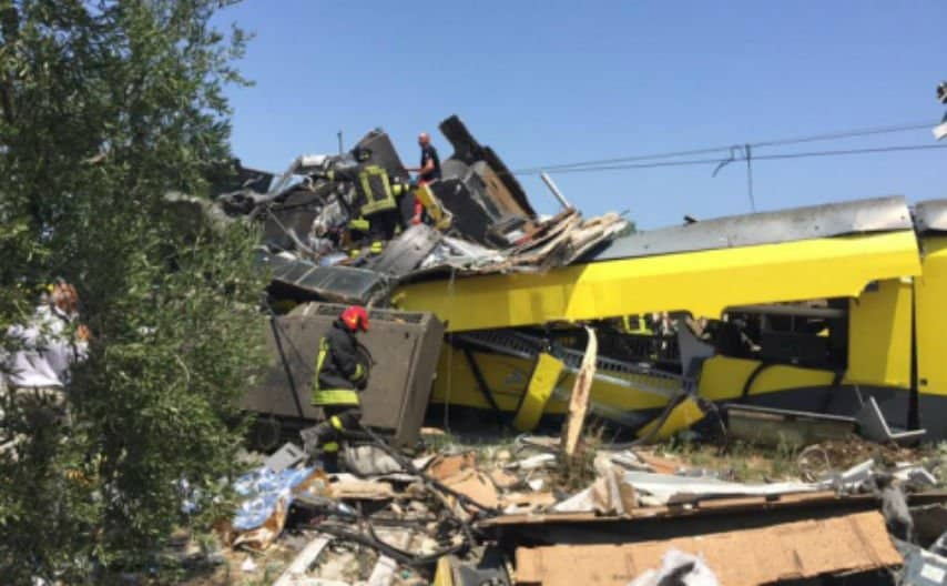 Scontro treni tra Andria Corato: chiesto processo per 18 persone