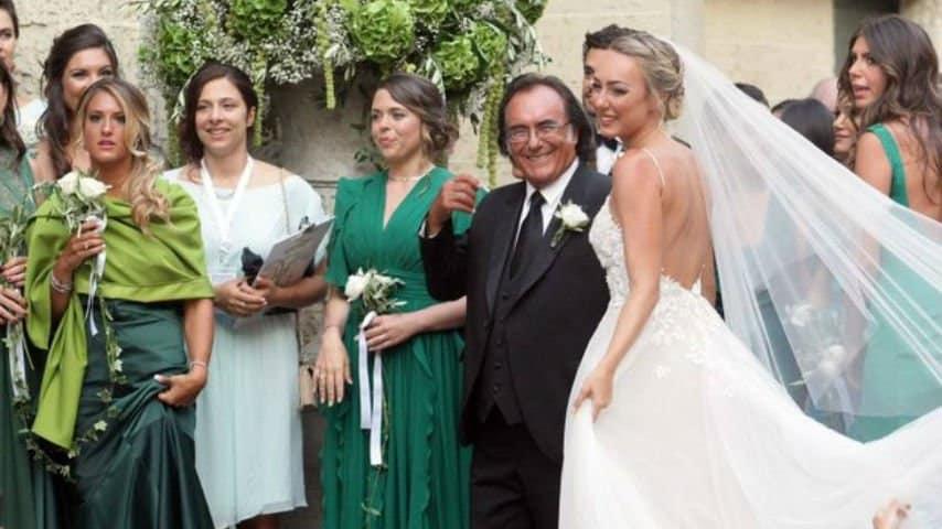 Il matrimonio di Cristel Carrisi. Foto: LaPresse