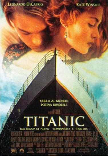 La locandina italiana del film di James Cameron Titanic