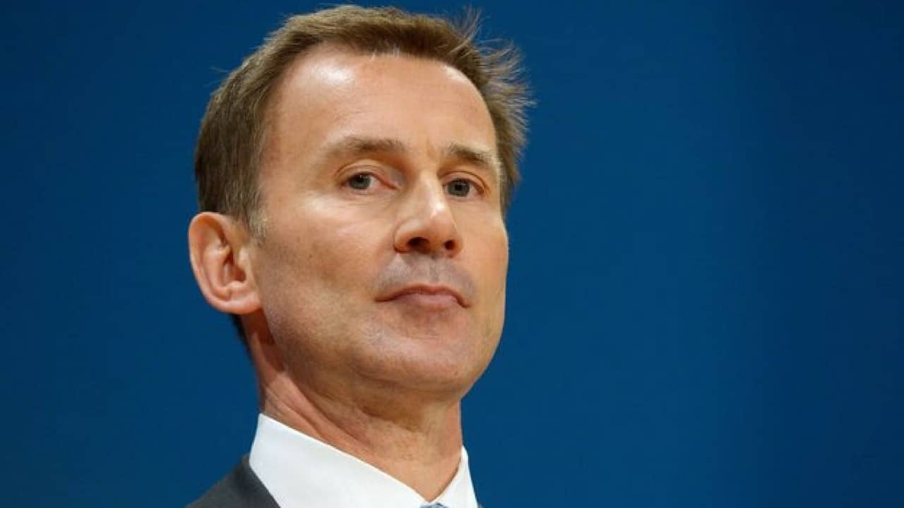 Jeremy hunt errore