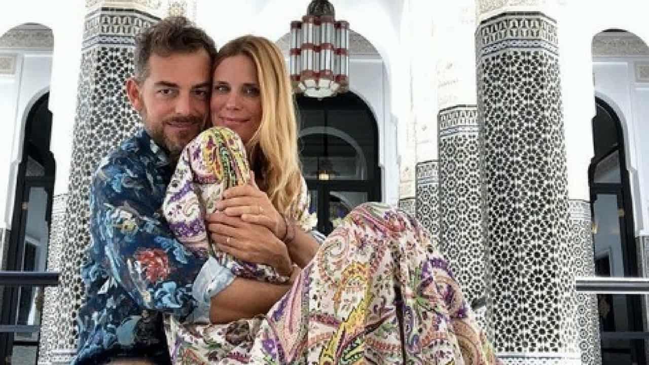 Daniele Bossari e Filippa Lagerback a Marrakesh