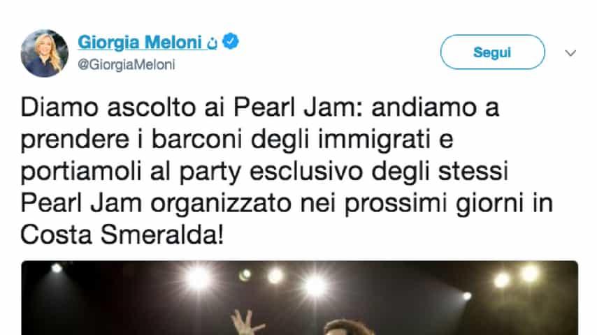Meloni-pavone-pearl-jam
