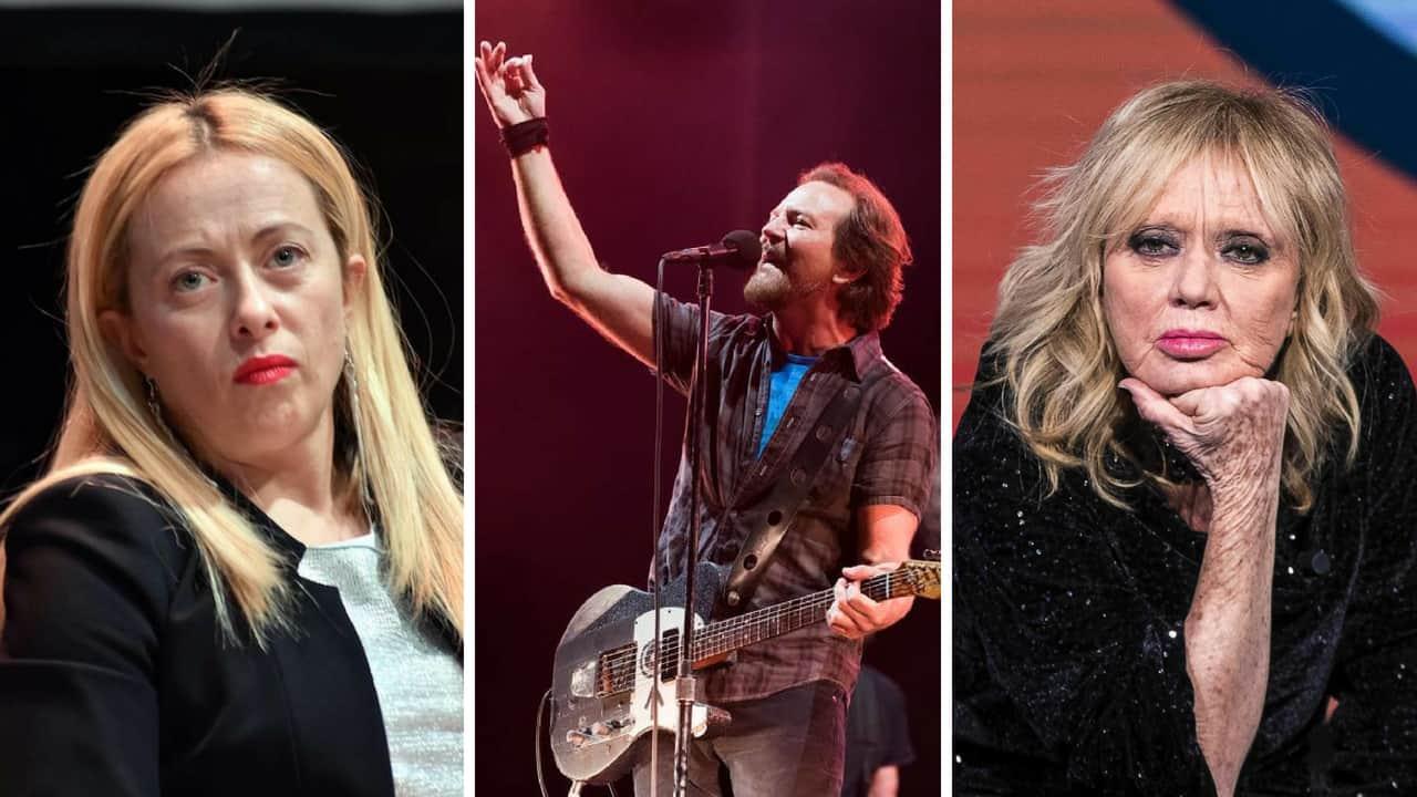 Rita Pavone e Giorgia Meloni si scagliano contro i Pearl Jam
