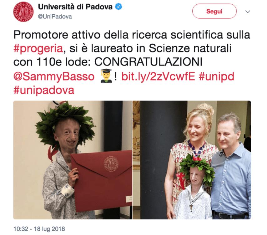 tweet unipadova