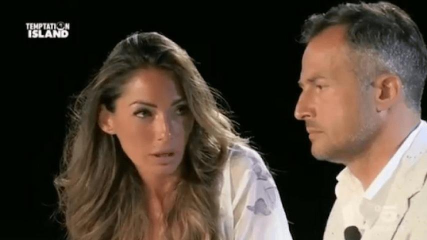 Ida e Riccardo al falò di confronto