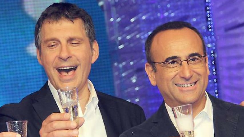 Carlo Conti insieme a Fabrizio Frizzi