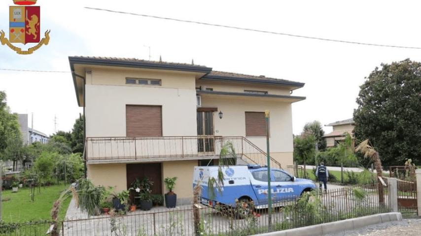 La villetta posta sotto sequestro dove viveva la famiglia Pocesta. Fonte: Questura di Pordenone
