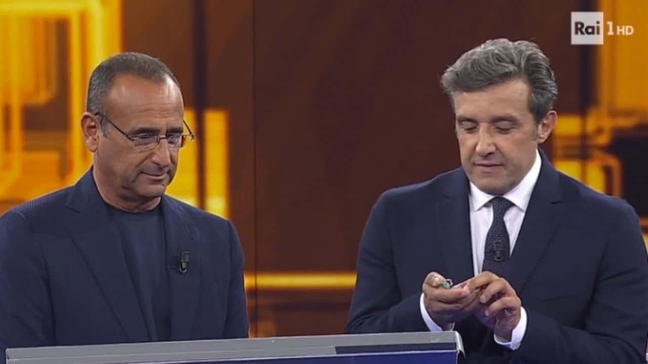 Flavio Insinna al fianco di Carlo Conti per la prima dell'Eredità dopo Fabrizio Frizzi