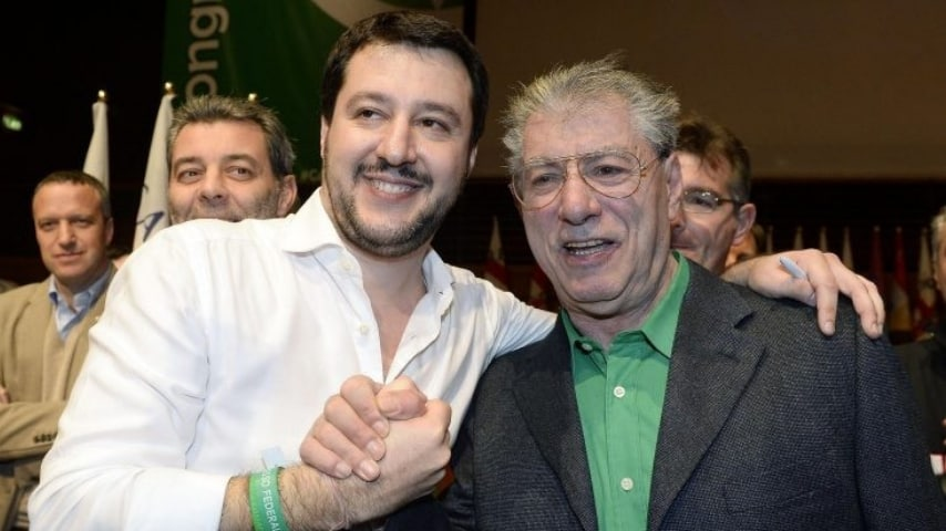 Matteo Salvini e Umberto Bossi