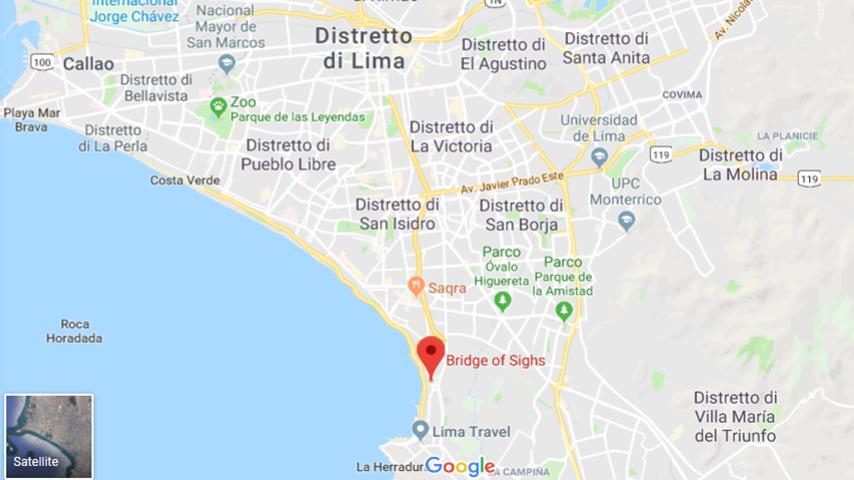 marito scopre moglie tradisce google maps ponte sospiri lima perù