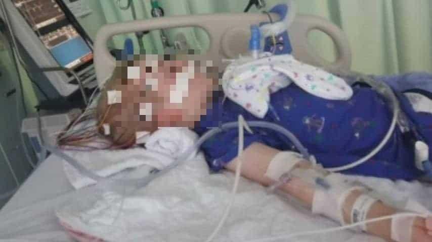 Uno dei bimbi colpiti dal morbo ricoverato in ospedale. Credits: CNN
