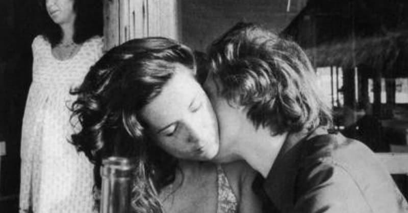 Marina Ripa di Meana e il pittore Franco Angeli