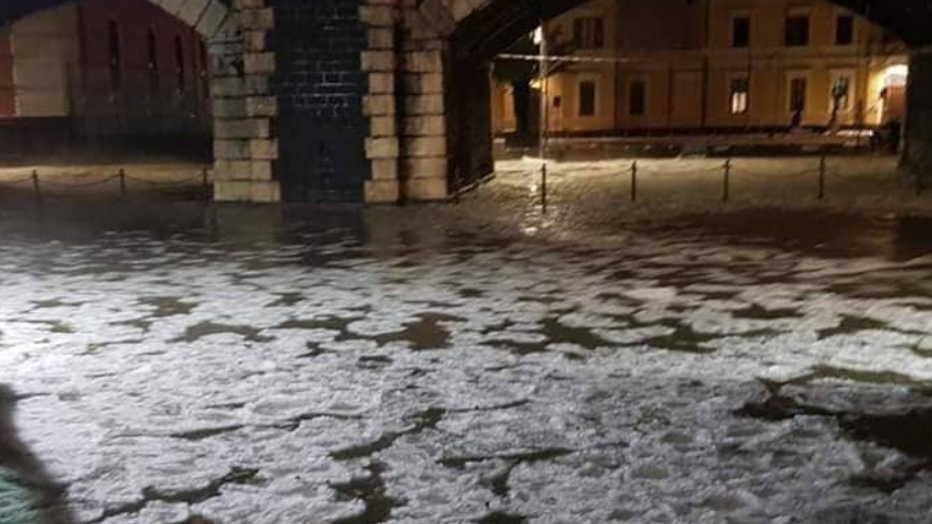 Allagamento a Catania. Credits: Liveunict_Liveuniversity