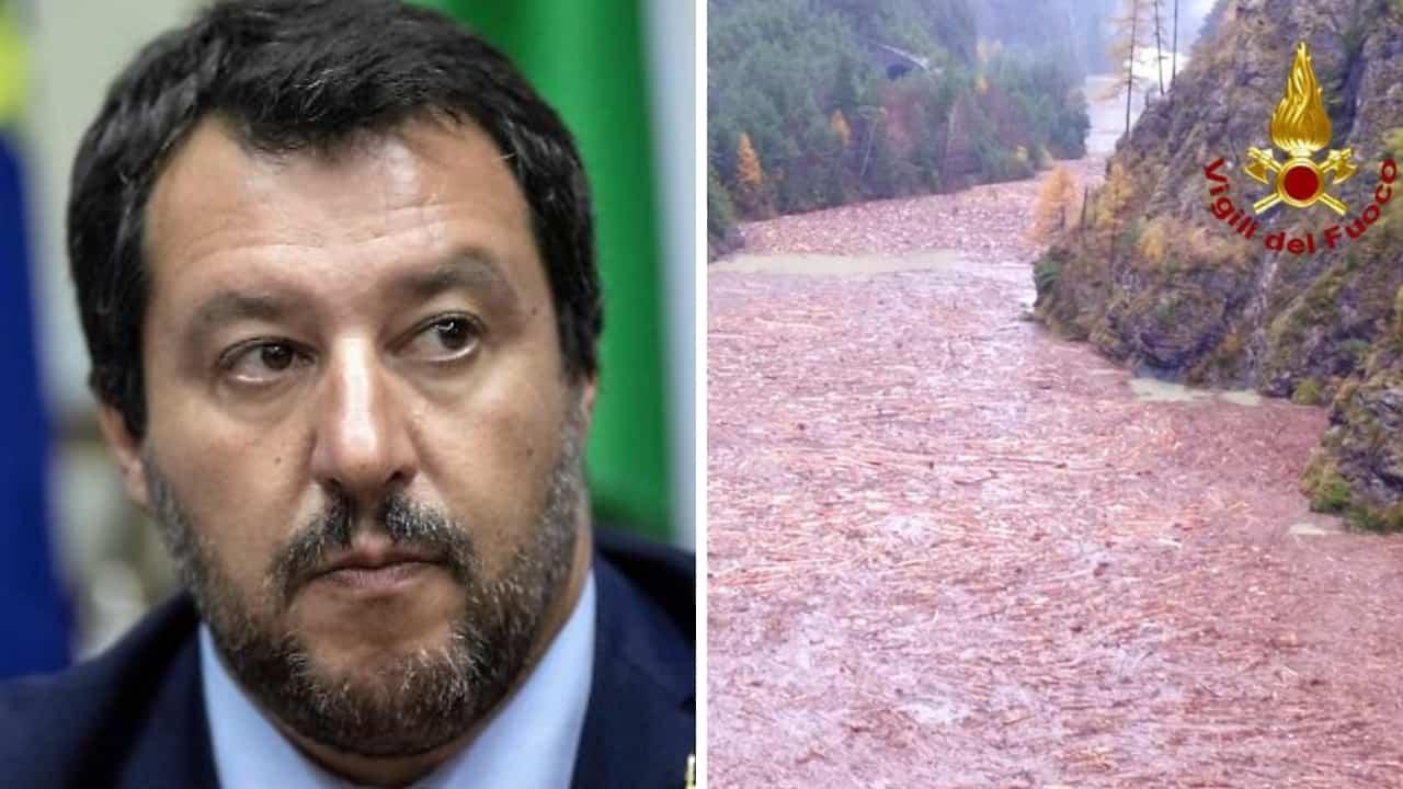 Matteo Salvini sulle devastazioni del maltempo
