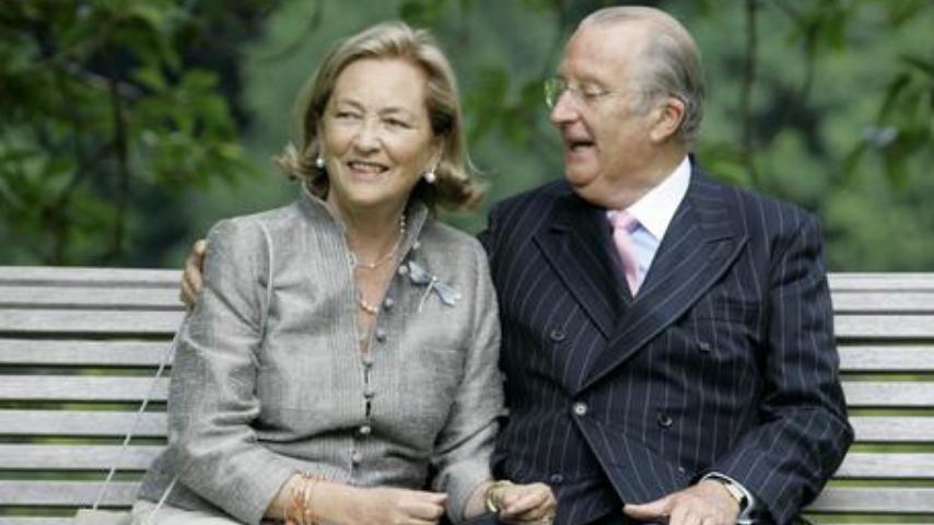 Paola Ruffo di Calabria con Alberto II, ex re del Belgio. Fonte: Archivio Ansa