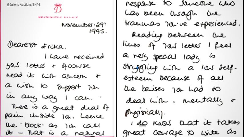 La lettera di Lady Diana ad una fan