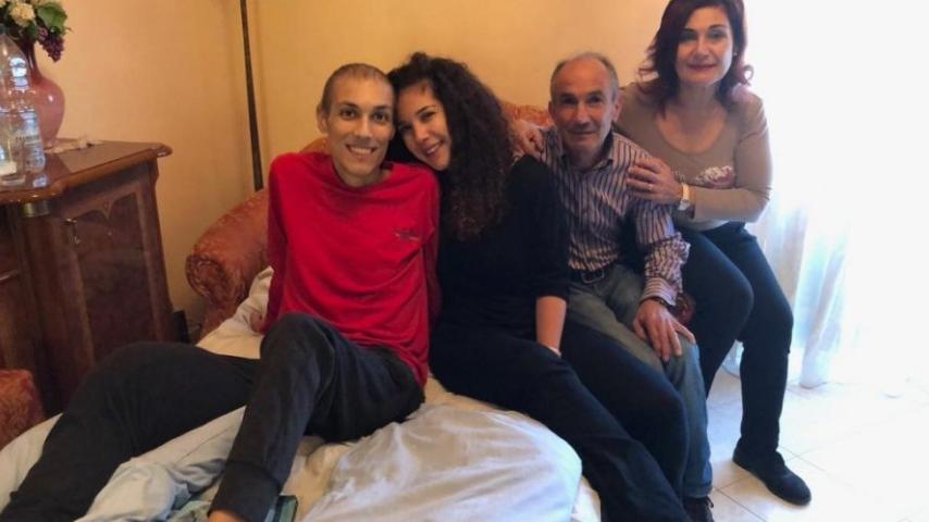 Luca Cardillo e la sua famiglia