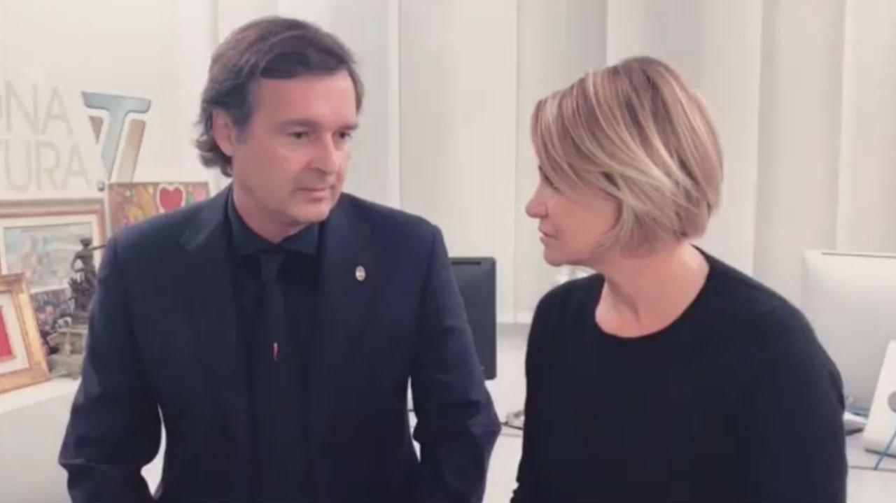 Simona Ventura e Gerò si dicono addio... con un video