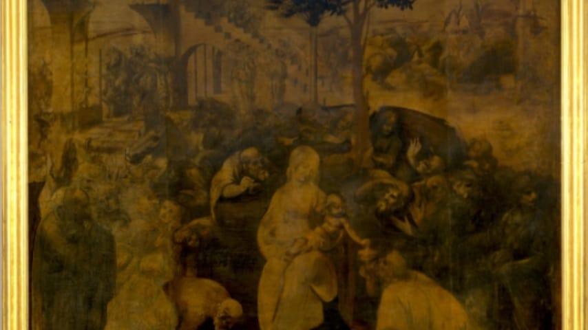 L'Adorazione dei Magi di Leonardo da Vinci. Immagine: Google Arts & Culture