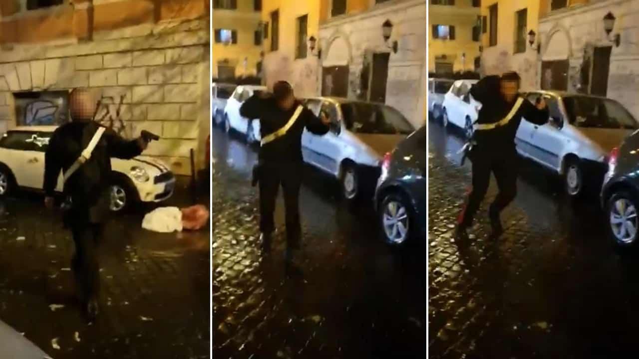 Carabiniere interviene a difesa di un gruppo di persone_ aggredito