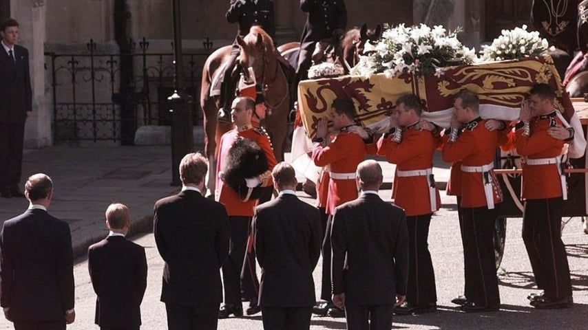Celebrazione del funerale di Lady Diana