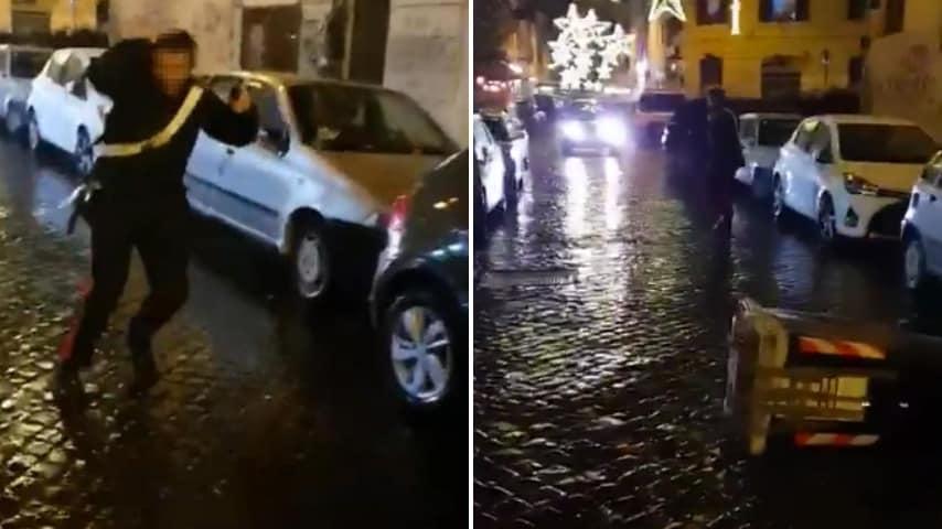 carabiniere aggredito a roma