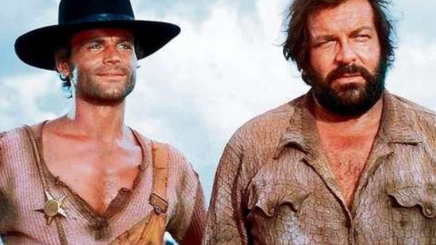 """Terence Hill e Bud Spencer interpretano """"Lo chiamavano Trinità"""""""
