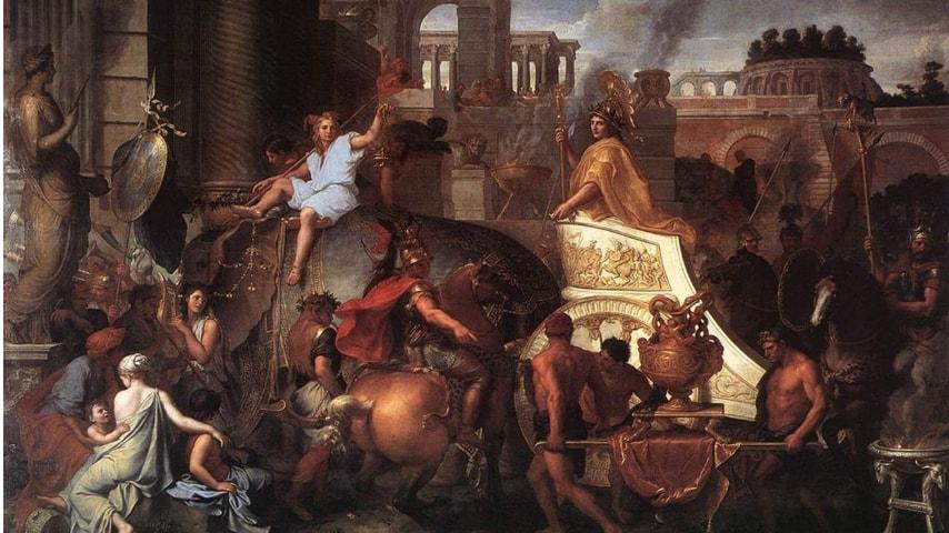 Entrata di Alessandro in Babilonia