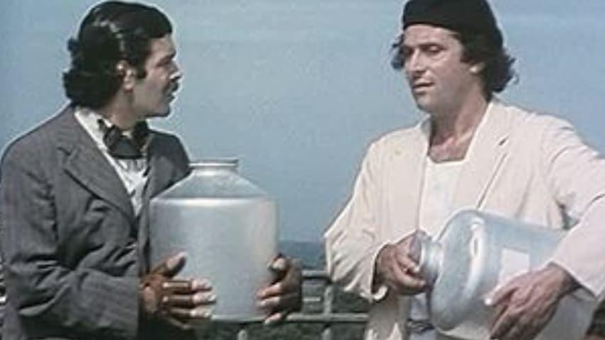 Gigi Sammarchi e Andrea Roncato in una scena del film Se tutto va bene siamo rovinati, del 1984