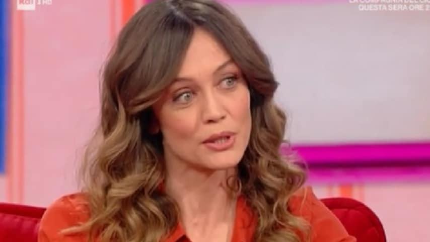Francesca Cavallin, durante la chiacchierata insieme a Caterina Balivo nella puntata Vieni da me