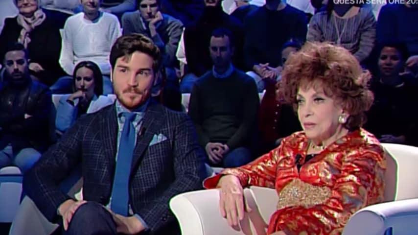 Gina Lollobrigida e Andera Piazzolla a Domenica In