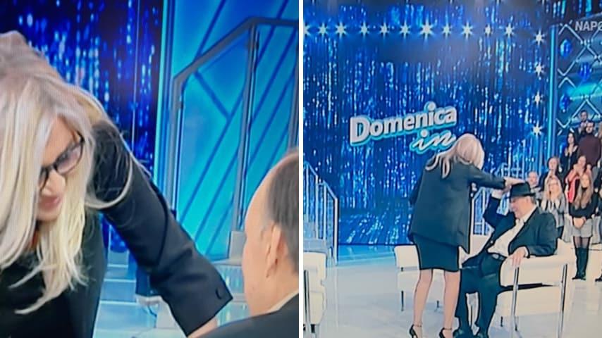 Il commovente saluto tra Mara Venier e Giampiero Galeazzi. Per lui uno scroscio di applausi in studio
