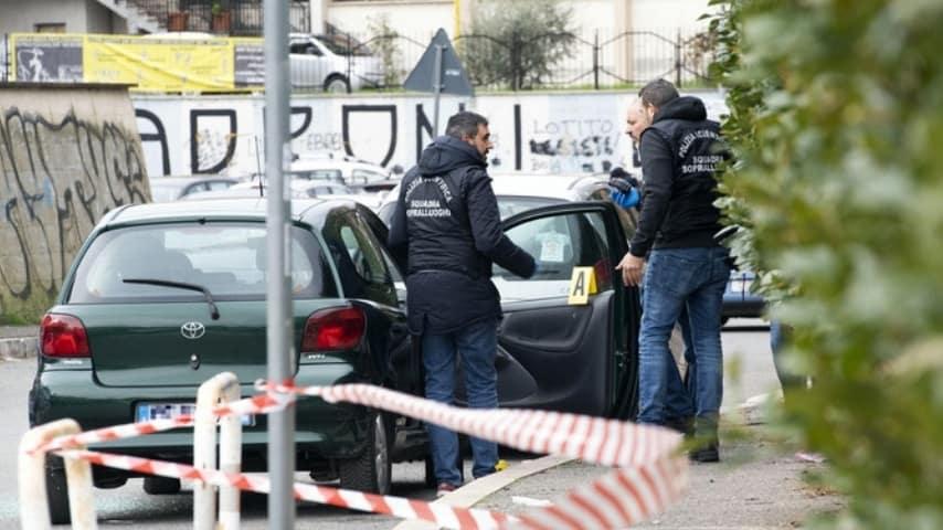 L'auto della vittima Credits: ANSA
