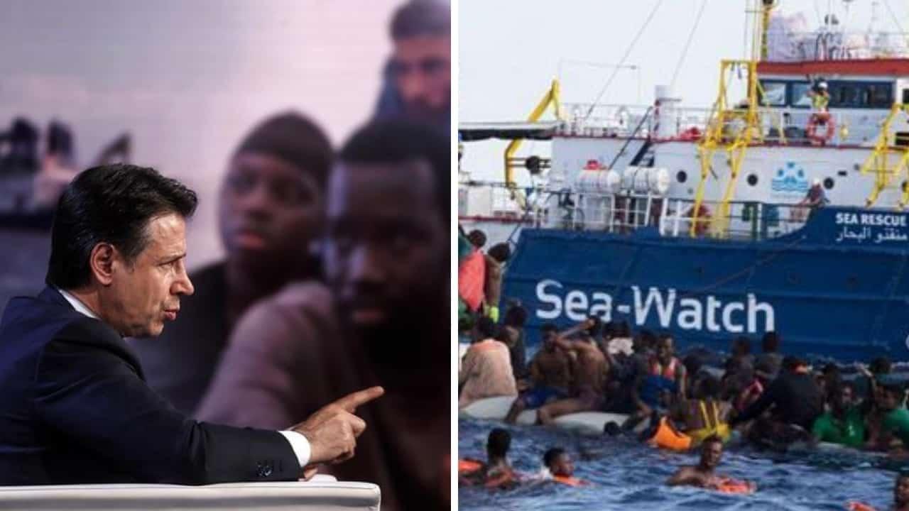 Migranti_ scontro tra il premier Conte e Matteo Salvini