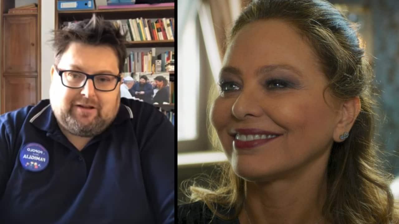 Mario Adinolfi e Ornella Muti