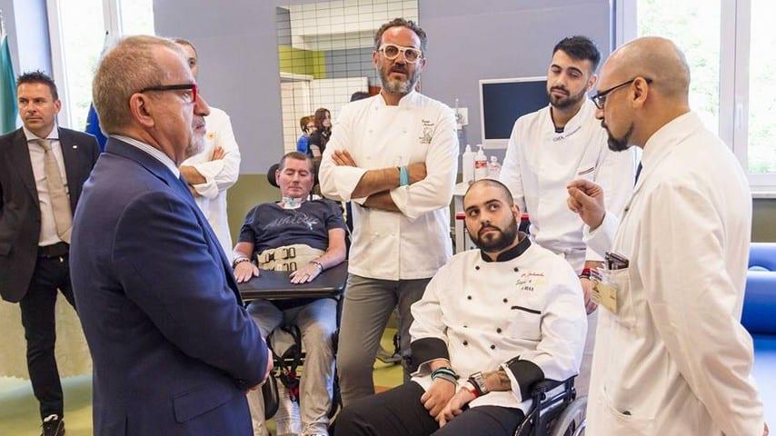 Paolo Palumbo con Roberto Maroni